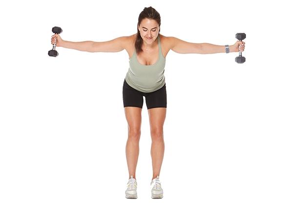 Tập thể dục giúp vòng 1 săn chắc