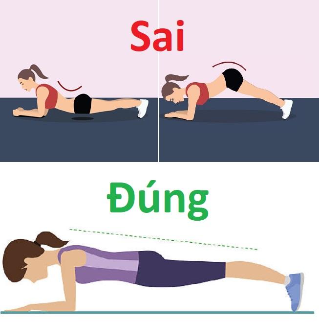 Lưu ý khi tập Plank