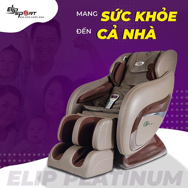 Ghế massage ELIP Platinum có con lăn 3D và tia hồng ngoại.