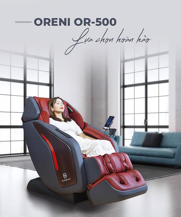 Ghế massage Oreni OR-500 là sản phẩm đẳng cấp hàng đầu hiện nay trên thị trường.