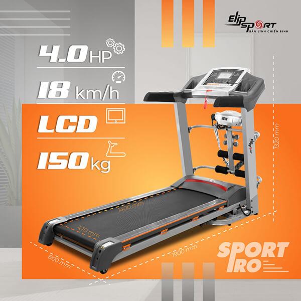 Máy chạy bộ điện Elip Sport Pro.