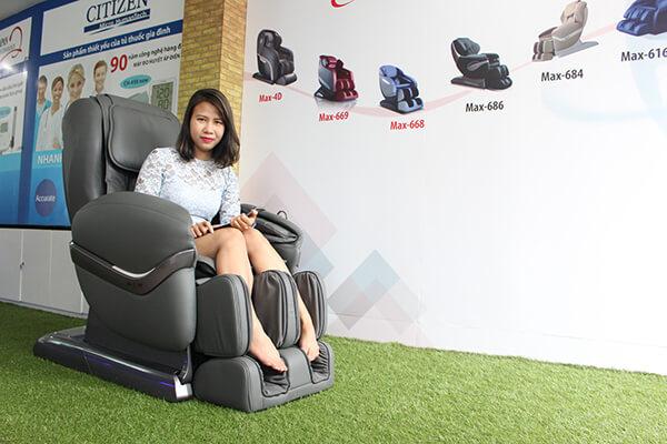 Maxcare là hãng kinh doanh ghế massage được khá nhiều người biết đến