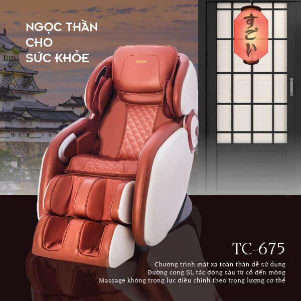 Ghế massage Tokuyo TC-675 - ngọc thần cho sức khỏe của bạn