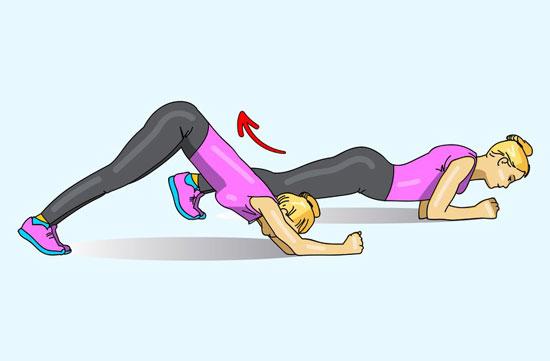 Plank gập bụng chữ V ngược