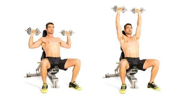 Bài tập Seated dumbbell shoulder press