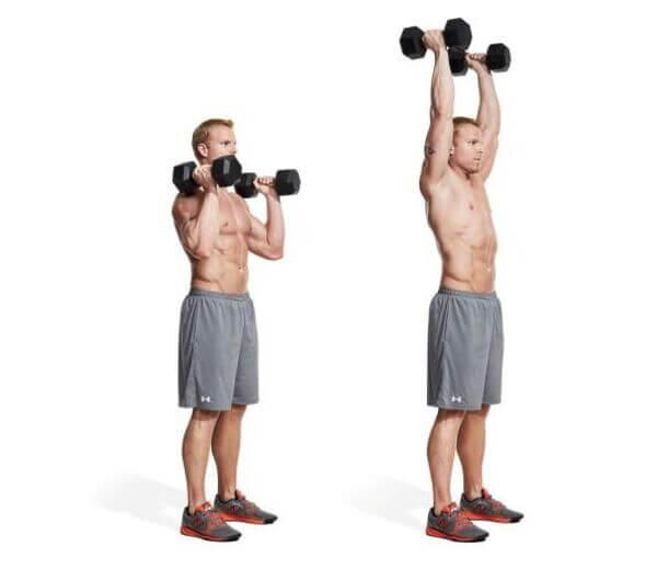 Bài tập Palm in dumbbell shoulder press
