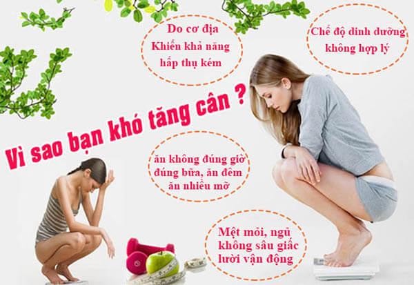 Nguyên nhân khiến bạn khó tăng cân